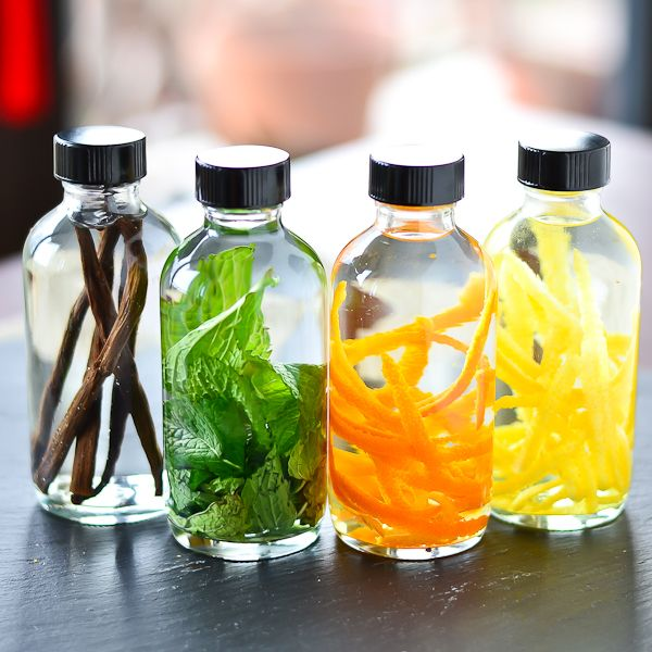 DIY- Make your own extracts- Lemon, Lime, Orange and others. * Using things from the Garden *   Homemade Flavored Extracts by Just Putzing Around