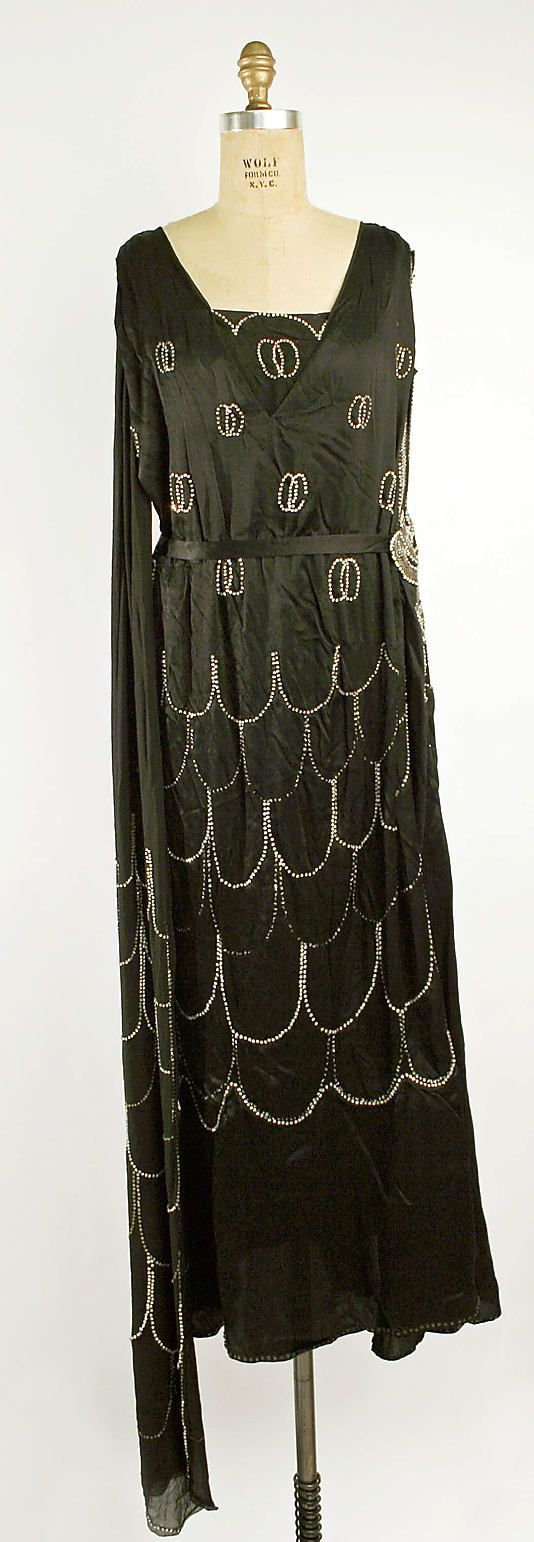 Evening Dress 1925, French: 1920 S, Evening Dresses, Vintage 1920S, 1910S 1920S, 1920S Fashion, Fashion 1920S, 1920S Flapper
