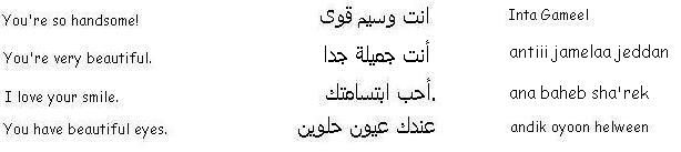 Flirting in Arabic - Learn Arabic