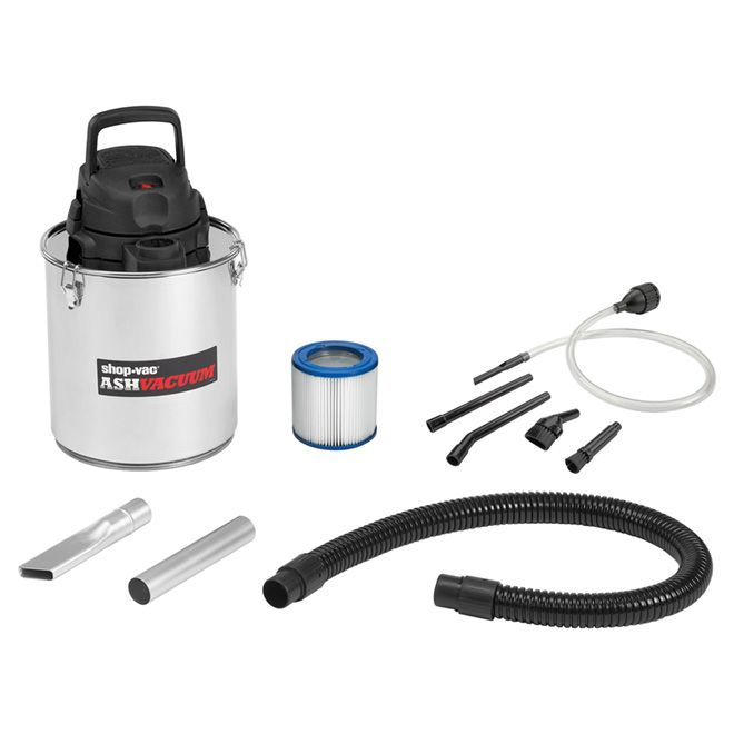 Shop Vac Ash Vacuum For Fireplace Stainless Steel 5 Gallons