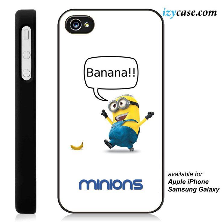 Banana Minions Phone Case | Apple iPhone 4/4s 5/5s 5c 6 6 Plus Samsung Galaxy S3 S4 S5 S6 S6 Edge Hard Case
