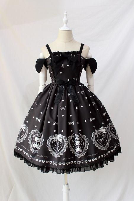 13ec6ad4e4 Alice Girl ~ Black Sugar Bear   s Love march~ Sweet Lolita JSK -Pre-order