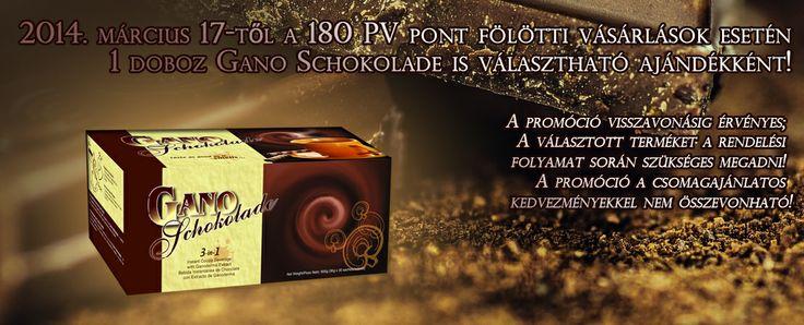 Választható Gano Schokolade 180 PV pont fölötti vásárlás esetén