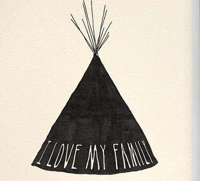 Image of I love my family Tribe print by Beauchamping