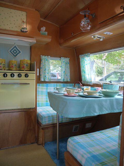 Vintage Camper Interior See More Nice Renovation In A