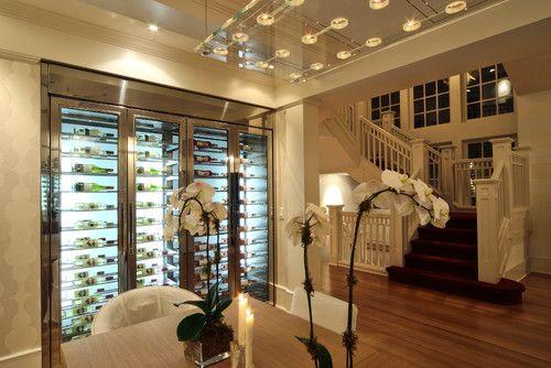 wine wall - modern wine cellar