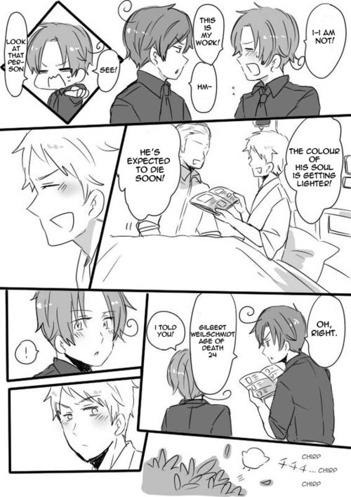 Grim Reaper Stories (PruIta/SpaMano) - Part 1 Gilbert And The Grim Reaper) - Page 2