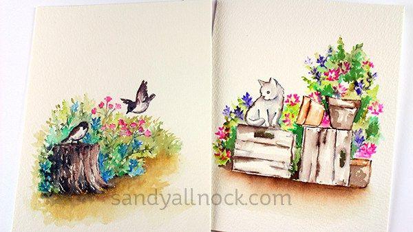 Swatching Art Impressions Watercolor Sets – Sandy Allnock
