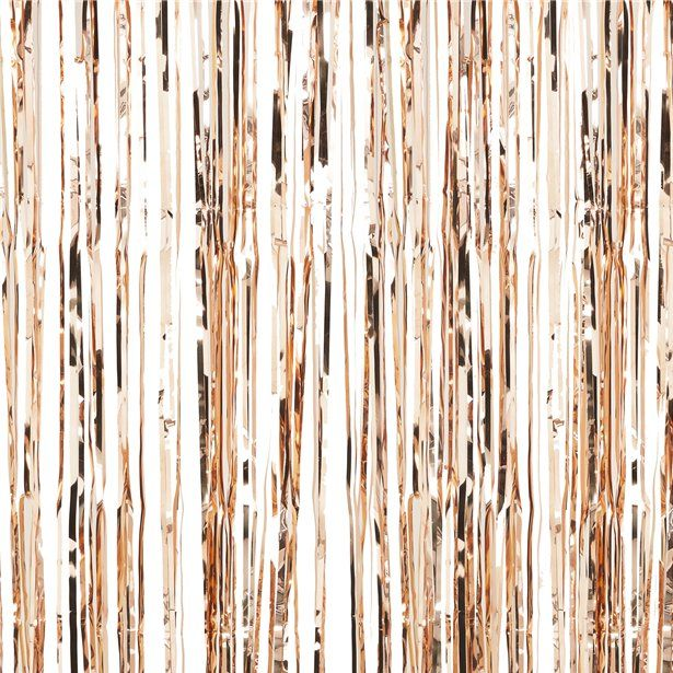 Rose Gold Foil Curtain 2 5m Rose Gold Party Rose Gold Party Decor Rose Gold Theme