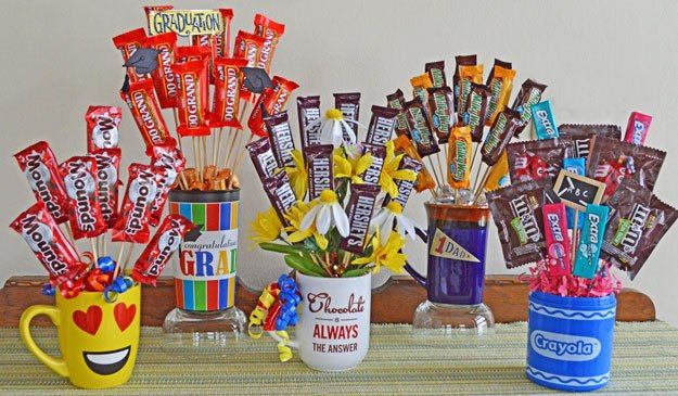 How to make a Candy Bouquet. A fast, $5 gift idea! CraftsnCoffee.com.                                                                                                                                                     More