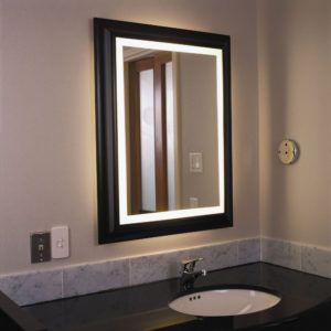 Charmant Traditional Bathroom Mirror With Lights