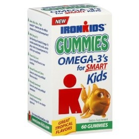 Ironkids Omega-3's, Gummies, (fish oil for kids, vitamins, omega 3, fish oil, fish oil kids, nordic naturals, omega-3, health, dha, kids)