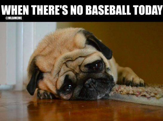 Me when the baseball season is over