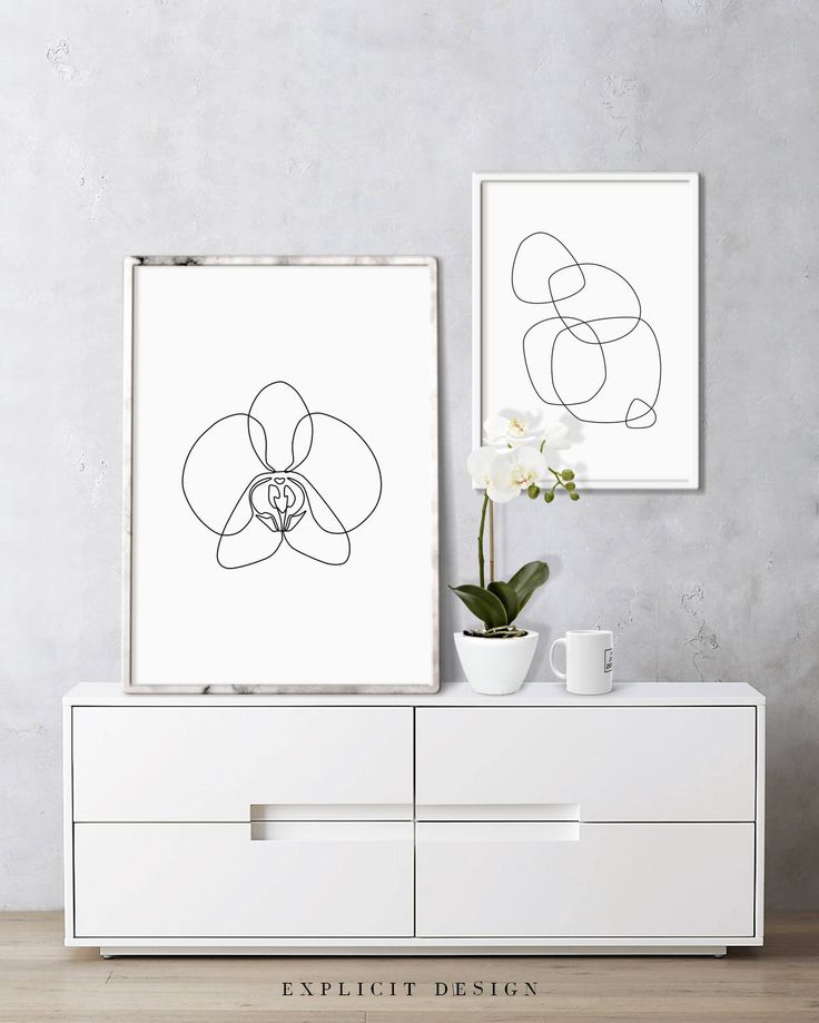 """Orchid Drawing Printable, Abstract Minimalist Art, Thin White Flower Print, Fine Line Wall Prints, Botanic Poster, Subtle Lines Artwork. INSTANT DOWNLOAD This listing is for a DIGITAL FILE of this artwork. No physical item will be sent. You can print the file at home, at a local print shop or using an online service. INCLUDED FILES 1. High resolution JPG file in 2:3 ratio for printing the following sizes: - 4""""x6"""" - 8""""x12"""" - 12""""x18"""" - 16""""x24"""" - 20""""x30"""" - 24""""x36"""" 2. High resolution JPG file…"""