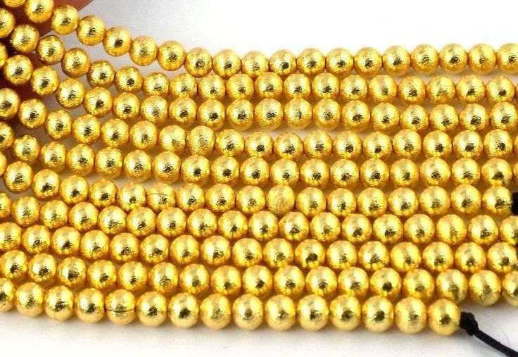 60% off on 5 Strands of Gold Plated 6mm Copper Smooth Balls Rondelle Beads by colorvilla on Etsy