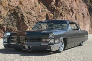 """1966 Cadillac Deville Bagged Slammed 22"""" Rims Stereo system 472 engine NICE RIDE Photo"""