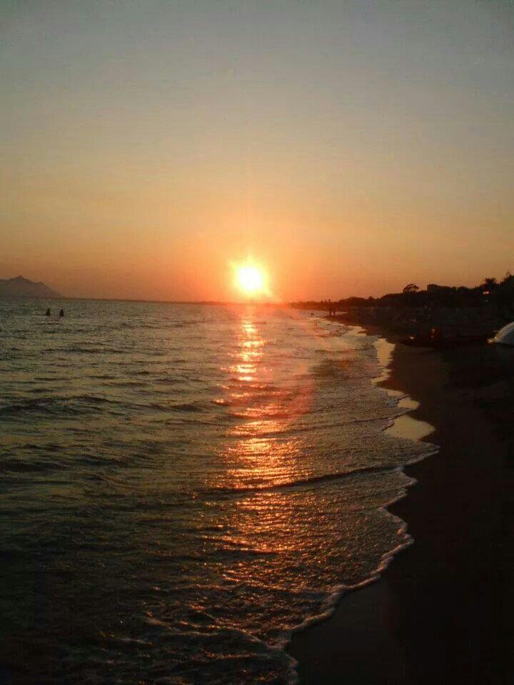 tramonto a terracina