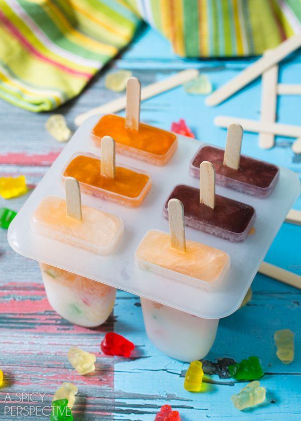 Easy Gummy Bear Pops #pops #gummybears #summer