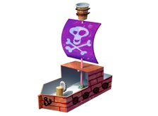 Milk carton pirate ship.
