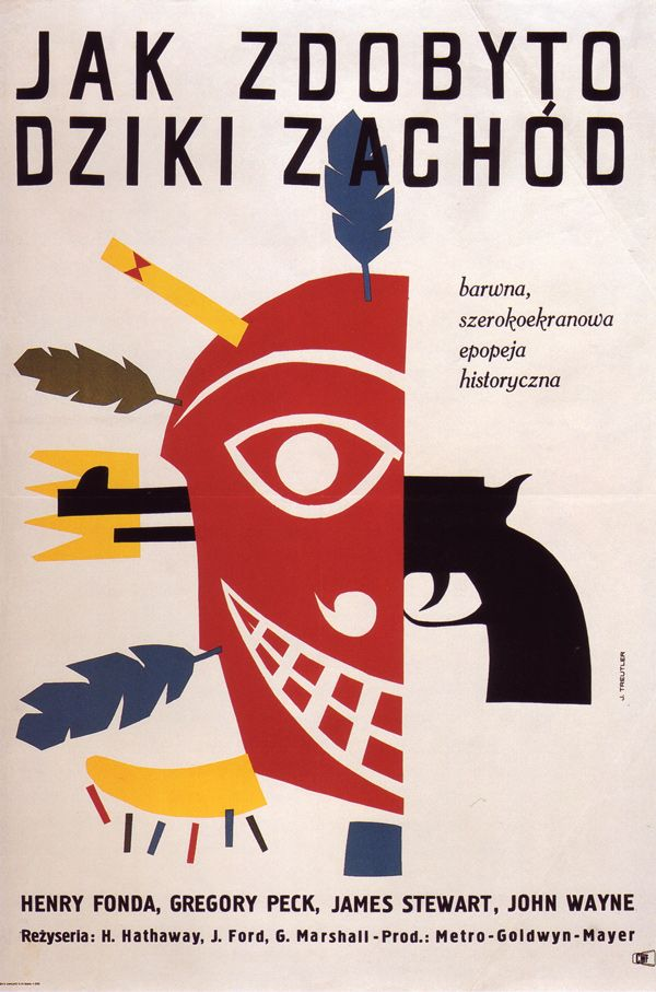 1965 poster by Jerzy Treutler for How the West Was Won