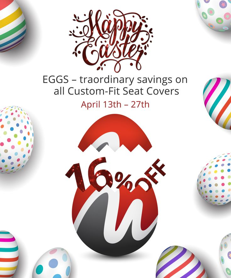 Hey Guys! NW Seat Covers presents: A Cracking offer this Easter! EGGS - traordinary savings on all Custom - Fit Seat Covers 16% off! per/row! April 13th - 27th! #Easter #Sale #Seatcovers #Trucks #Ford #Ram #GMC #Chevy #Camouflage #CoolSport #Atomic #OEM #Vinyl Don't miss it !