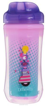 """Чашка-термос 300 мл, без носика, 12+ месяцев - Фиолетовый Робот  — 580р.  Поильник-термочашка """"Dr.Brown's"""" специально разработан для малышей от 1 года. Выполнен из безопасного материала (не содержит бисфенол А). Корпус поильника с изолирующими стенками позволяет напиткам долго сохранять свою температуру и свежесть. Крышка термо-поильника плотно и герметично закручивается, а благодаря цельному клапану, исключает проливание жидкости, даже если малыш перевернет поильник. Внутренний стакан…"""