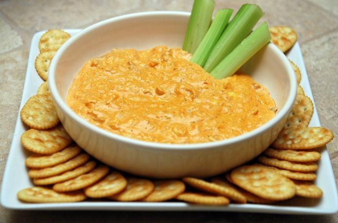Creamy Buffalo Chicken Dip is a party must-have.