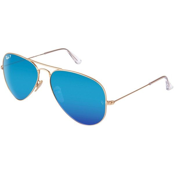 Ray-Ban RB3025 Original Aviator Sunglasses (615 BRL) ❤ liked on Polyvore featuring accessories, eyewear, sunglasses, blue, blue lens glasses, blue sunglasses, blue aviator sunglasses, blue tinted glasses and ray ban aviator