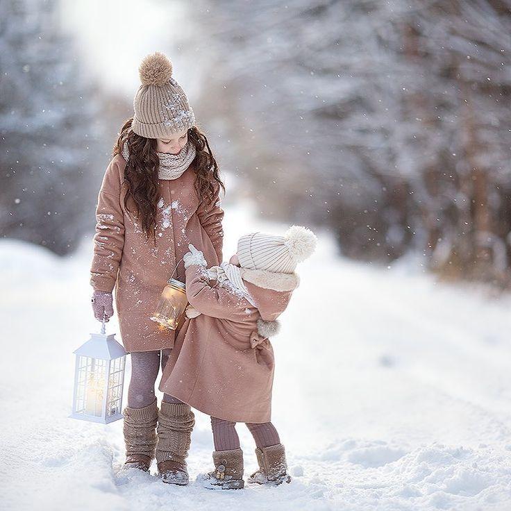 сочетание идеи для зимнего фото с детьми это правда