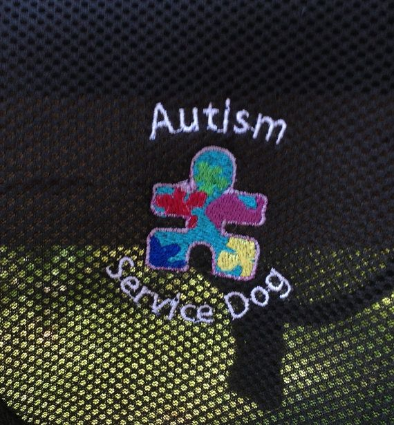 Autism Service Dog Vest. Add your dog's name. 2 Emblems. Double stitched…