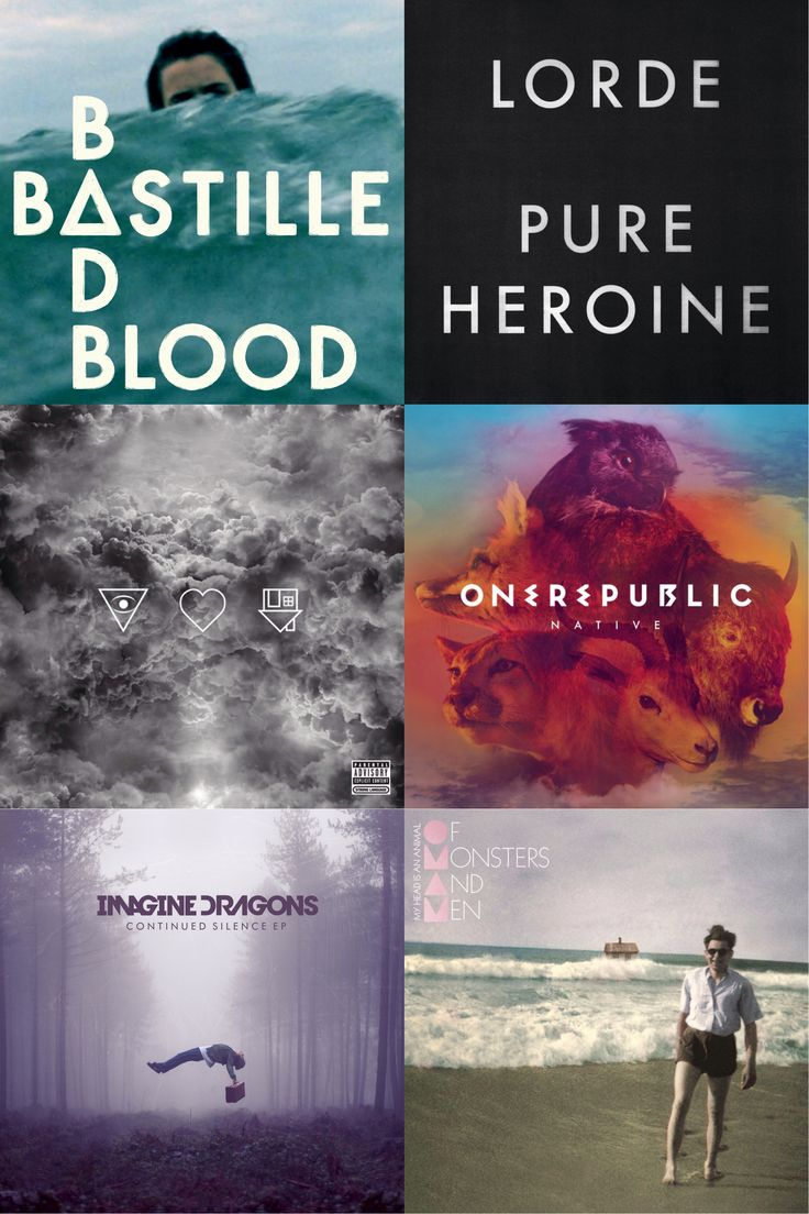 Repin if see your favorite album!!  Bastille, OneRepublic, Of Monsters and Men, and Imagine Dragons!!!!