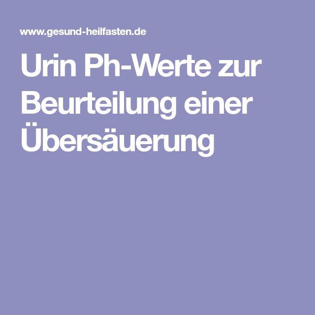 Urin Ph-Werte zur Beurteilung einer Übersäuerung