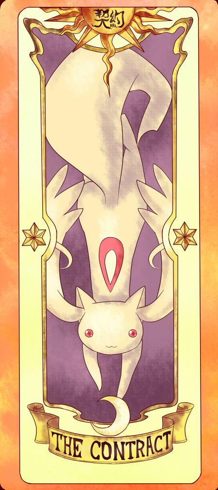 "Kyuubey, ""Madoka Magica"" , in a parody of Card Captor Sakura"