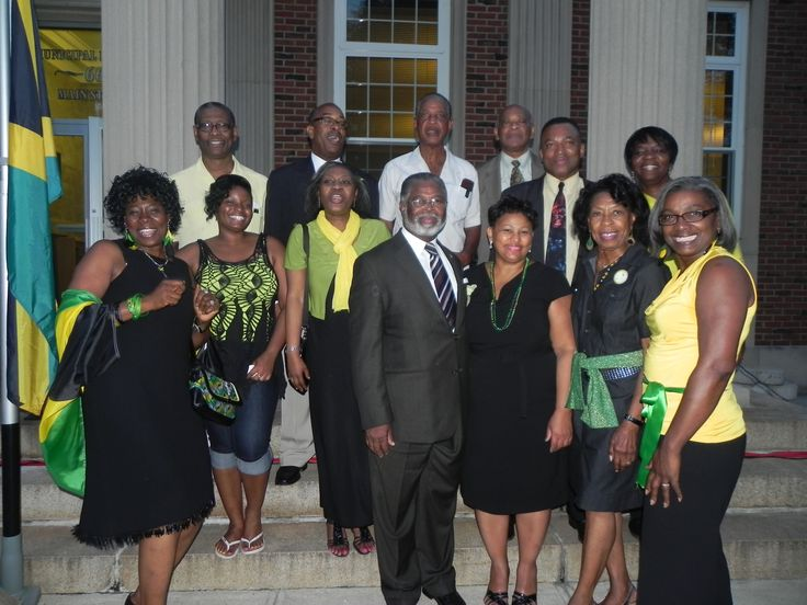 2nd Jamaican Flag Raising in West Orange with Consul General of Jamaica Herman G. LaMont and members of Jamaican Organization of New Jersey.  50 years of Jamaican Independence 2012.