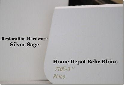 silver sage = Behr's rhino.  Also Rocky Mountain Sky (faintly more blue)