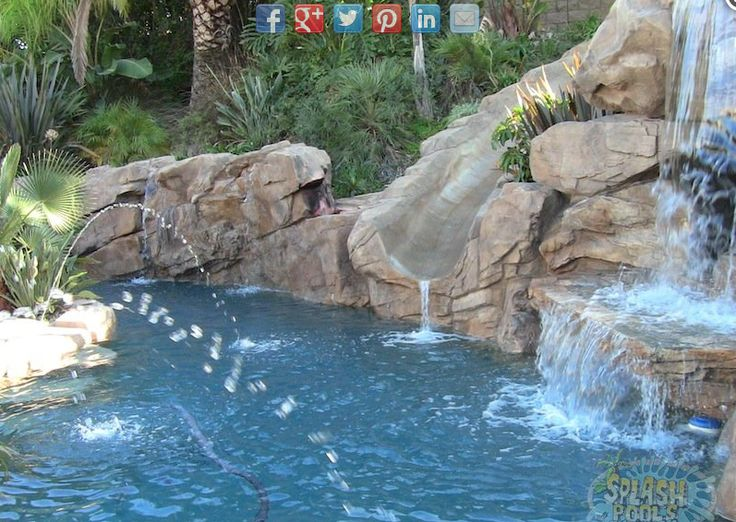 dream pool (in @) my dream house Pinterest Rock waterfall