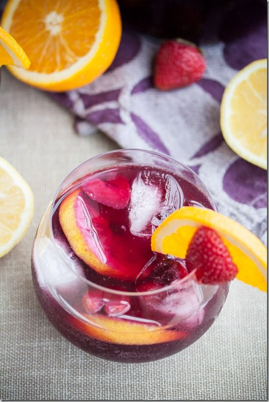 Red Wine Sangria with Strawberries 3