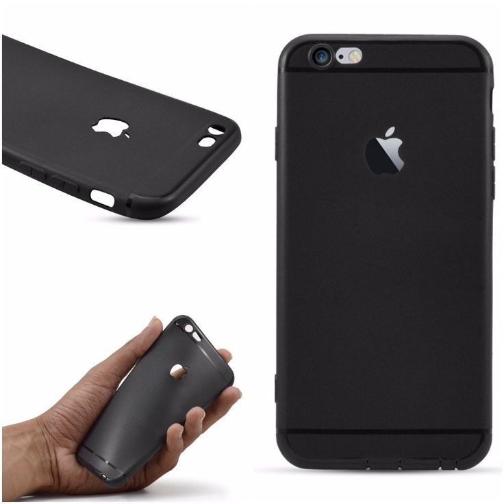 #High#Sky #Ultra #Slim Soft #Silicon Logo Cut #Back Cover For #Apple #iPhone 6/6S (#Black)