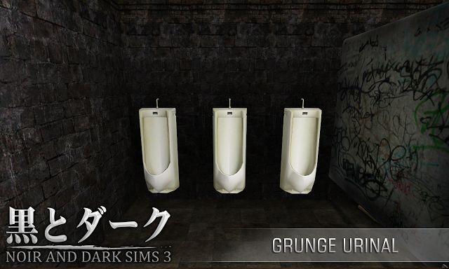 TS3 - Grunge Urinal ~ Noir and Dark Sims