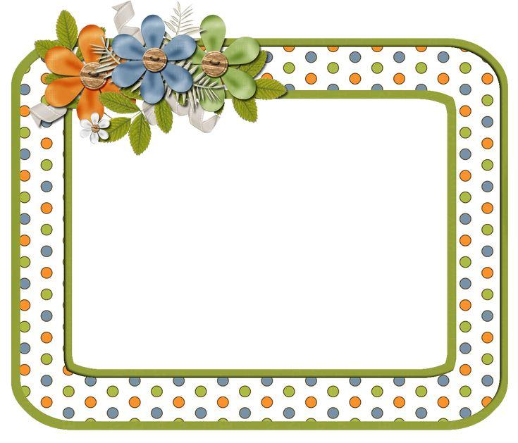 frame png | ... Scrapbook Elements: Free Orange Dot Digi Scrapbook Frame Cluster