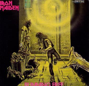 Iron Maiden Album Covers | File:Running Free (Iron Maiden album - cover art).jpg - Wikipedia, the ...