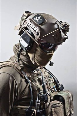 British SAS. Love how the OD green and multicam match. Cool kit.