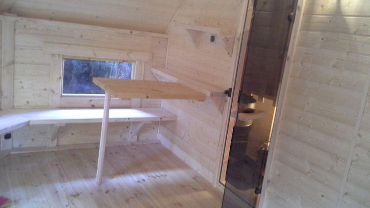 Nowe zastosowanie dla naszych domków - domek rekreacyjny 17m2 z sauną prysznicem i sprzętem fitness. Wiecej zdjęć i info na naszym FB lub Google+