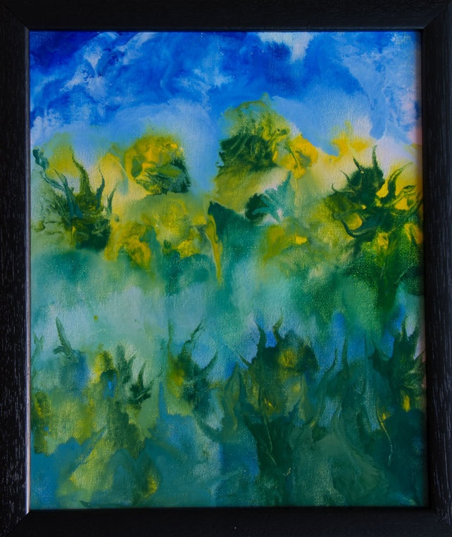 Jungle - Original, Framed Encaustic Art Painting on Canvas Board £33.00