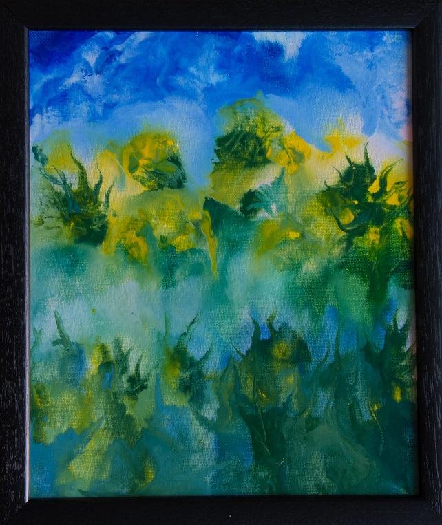 Jungle - Original, Framed Encaustic Art Painting on Canvas Board £33.00