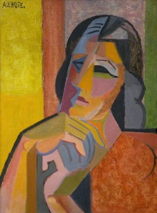 André Lhote (1885-1962) Frans schilder, illustrator, beeldhouwer en kunsthistoricus,  Invloed van Afrikaanse en Egyptische kunst en het werk van Paul Gauguin. Zijn vroege werk is fauvistisch, o.i.v. van Paul Cézanne en Pablo Picasso, wordt zijn stijl meer en meer kubistisch. Hij is als schilder grotendeels autodidact. Van 1898 tot 1904 is hij student beeldhouwen. Onder invloed van Paul Gauguin werd hij echter steeds meer tot de schilderkunst aangetrokken.