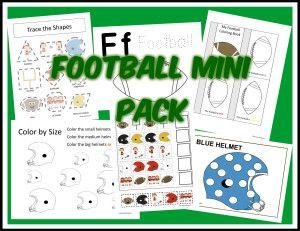 Free Football Printable Pack | Life is Peachy Blog