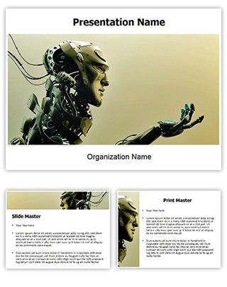 Make great-looking PowerPoint presentation with our Robotic free powerpoint template. Download Robotic free editable powerpoint template now as you can use this Robotic free ppt template freely as sample. This Robotic free powerpoint theme is royalty free and could be used as themes and backgrounds for Robotic, artificial, brain, connected, future, futuristic, gesture, humanoid and such topics.