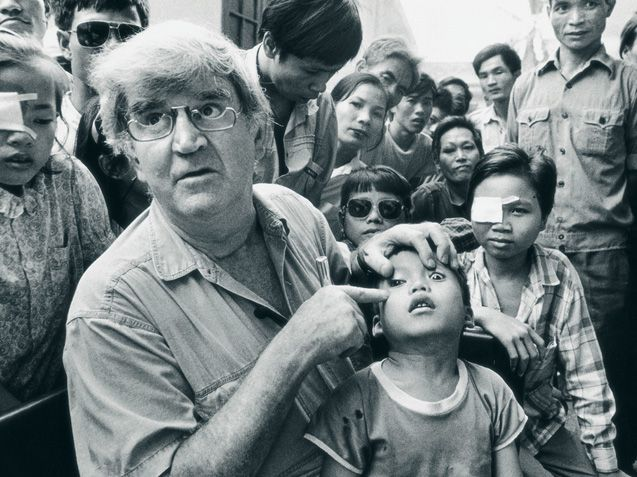 Fred Hollows is an Australian who spent his life restoring people's sight in third world countries and in remote Australia.