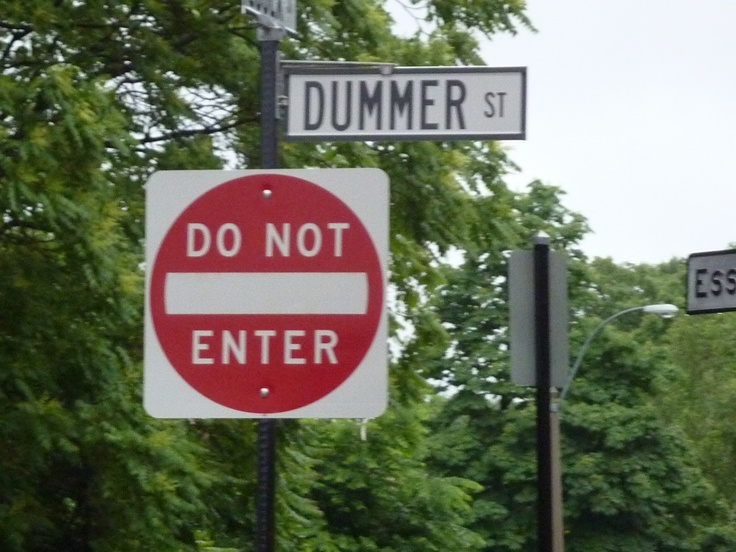 Funny signs in Boston